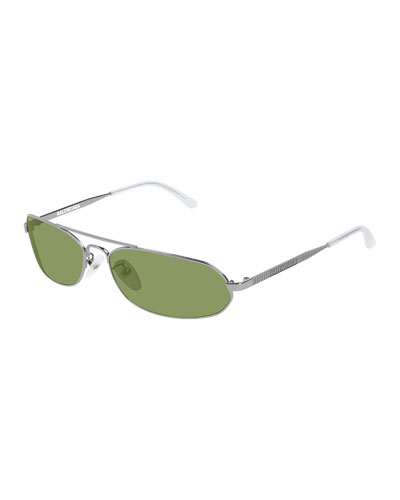 Men's Rectangle Metal Sunglasses