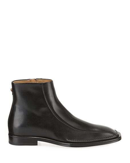 Men's Side-Zip Leather Ankle Boots