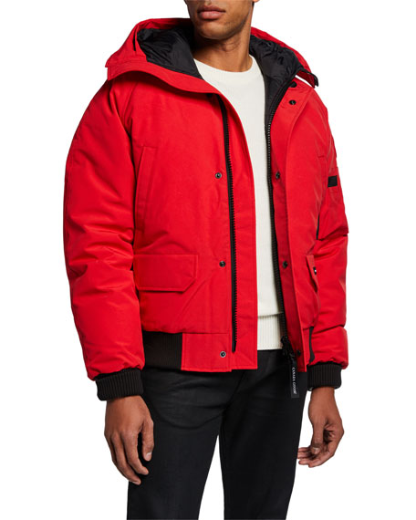 Image 1 of 1: Men's Chilliwack Down Bomber Jacket w/ Fur Hood - Fusion Fit