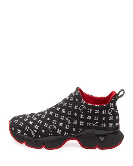 Men's Space Run 20 Logo-Knit Sock Sneaker