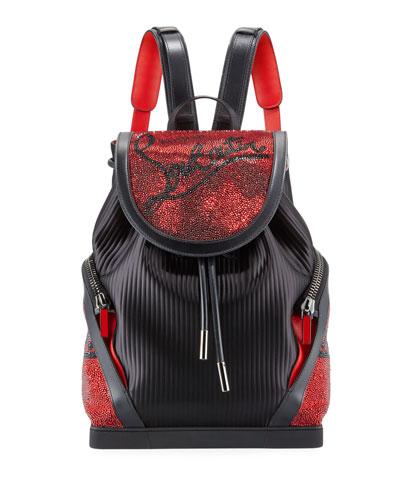 Men's Explorafunk Embellished Pinstripe Backpack