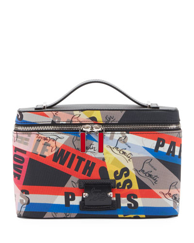 50cdb559 Men's Kypipouch Loubiballage Graphic Logo Travel Toiletry Case