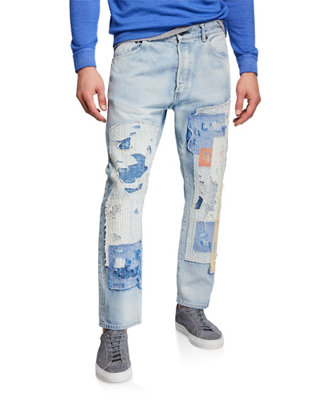 Men's The Kane 2 Patchwork Distressed Jeans