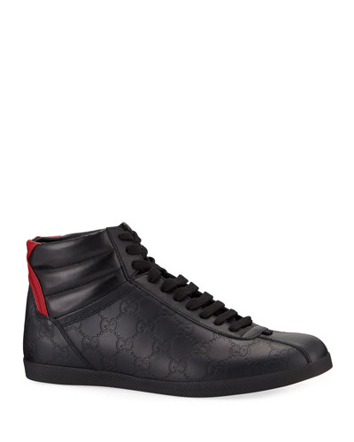 2ac8e06ccdc Promotion Men s Bambi GG-Embossed Leather High-Top Sneakers Quick Look.  Gucci