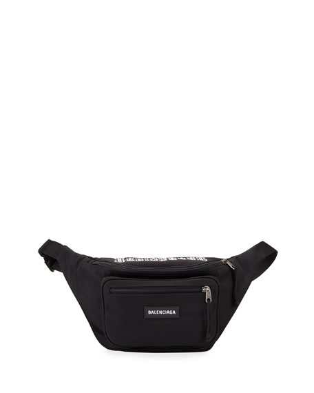 Balenciaga Men's Explorer Nylon Belt Bag