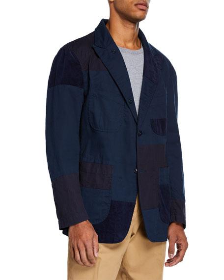 Men's Bedford Twill Patchwork Sport Jacket