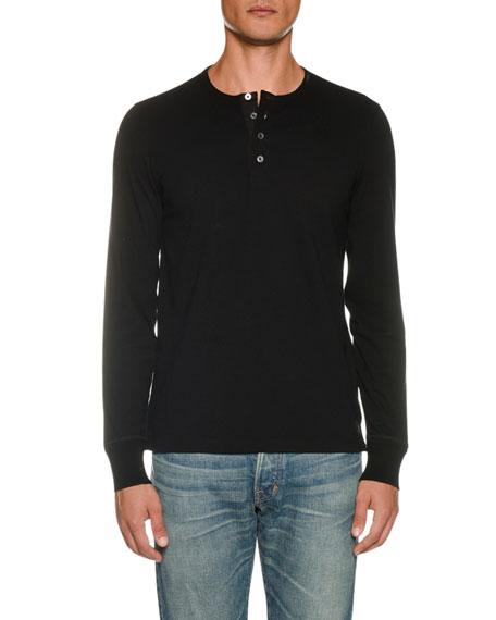 Men's Long-Sleeve Henley Shirt