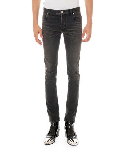 Men's Straight-Leg Distressed Jeans