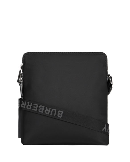Men's Neo-Nylon Logo-Web Crossbody Bag