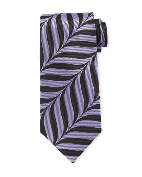 Abstract-Print 9cm Tie, Purple