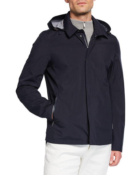 Men's Empire Hooded Water-Resistant Jacket