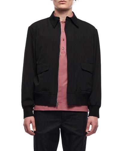 Men's Wes Zip-Front Wool Jacket