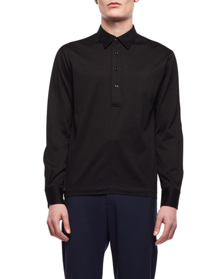 Image 1 of 1: Men's Phillip Long-Sleeve Polo Shirt