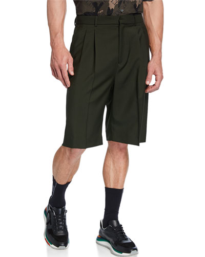 Men's Pleated-Front Bermuda Shorts