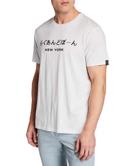 Men's New York Japanese-Printed Short-Sleeve Jersey Cotton Tee