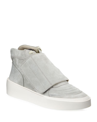 Men's Skate Mid-Top Suede Sneakers