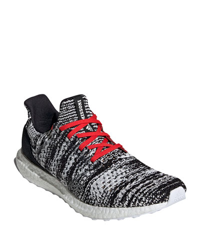 Men's UltraBOOST Running Sneaker  Black/Red