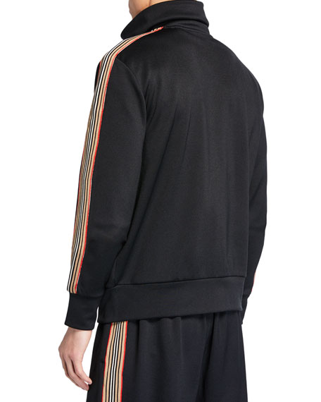 Men's Silas Striped-Trim Track Jacket