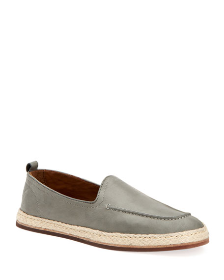 Image 1 of 1: Men's John Tumbled Leather Espadrille Loafers