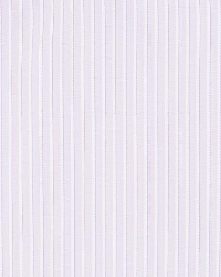 Men's Narrow-Stripe Cotton/Silk Dress Shirt