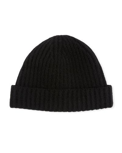 cbb5d63ecb6b2 Men s Ribbed Cashmere Beanie Hat