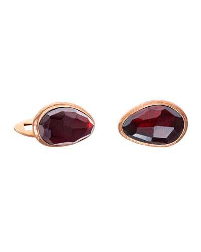 Garnet & 18k Rose Gold Cufflinks