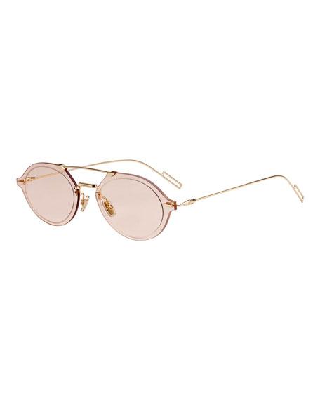 Men's Chroma 3 Round Aviator Sunglasses