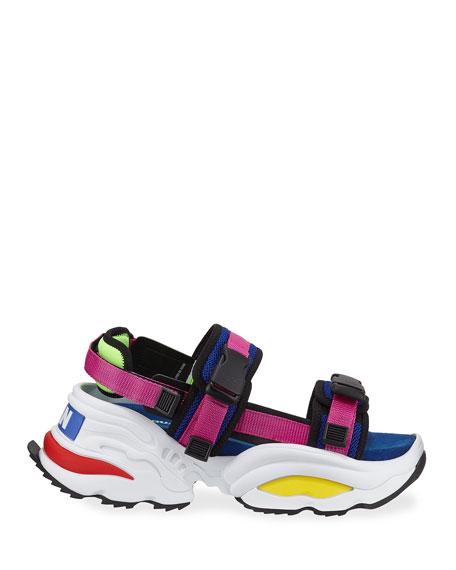 Men's Chunky Colorblock Platform Sandals