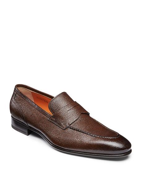 Santoni Men's Felipe Leather Penny Loafers