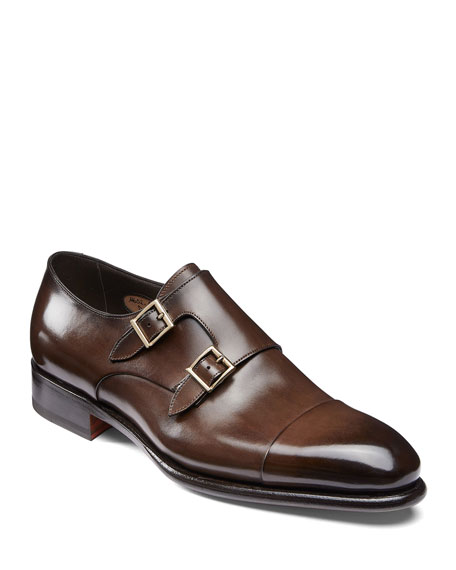 Santoni Loafers MEN'S IRA DOUBLE-MONK LOAFERS