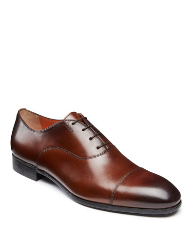 Men's Salem Leather Lace-Up Loafers  Brown