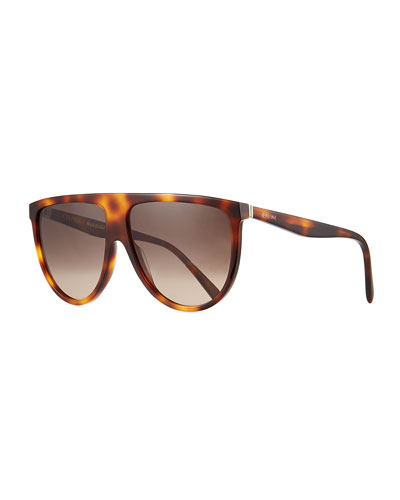 Men's Flattop Shield Sunglasses