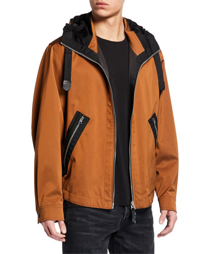 Men's Fully-Lined Zip-Front Parka