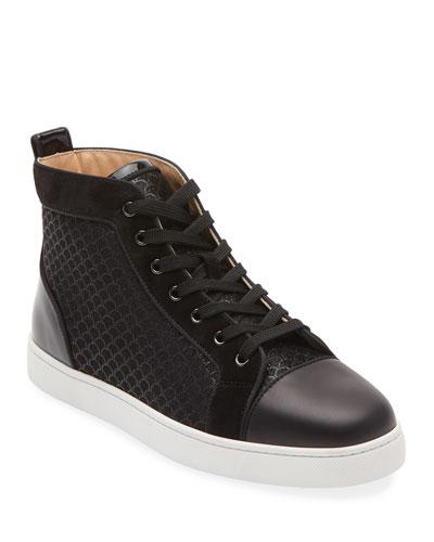 Men's Louis High-Top Textured Sneakers