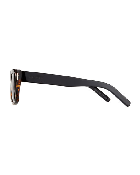 Men's SL 293 Brown-Pattern Rectangle Sunglasses