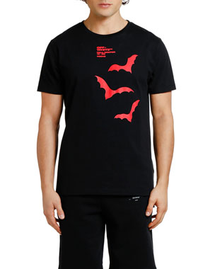 Off-White Men's Bats Graphic Slim T-Shirt