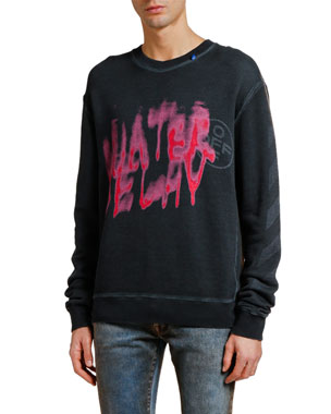 Off-White Men's Diagonal Vintage Graphic Slim Sweatshirt