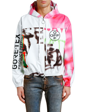 Off-White Men's GORE-TEX® Zip-Front Hoodie