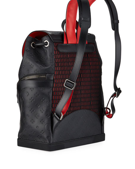 Men's Explorafunk Embossed Calf Leather Backpack