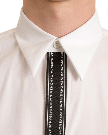Men's Branded-Placket Sport Shirt