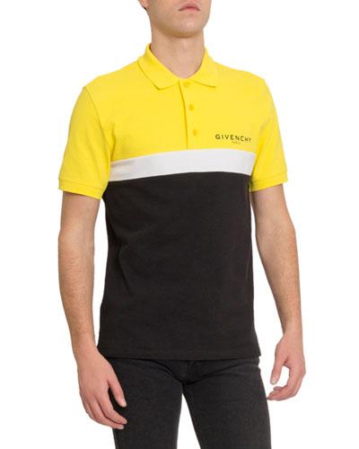 Men's Logo Cutout Polo Shirt