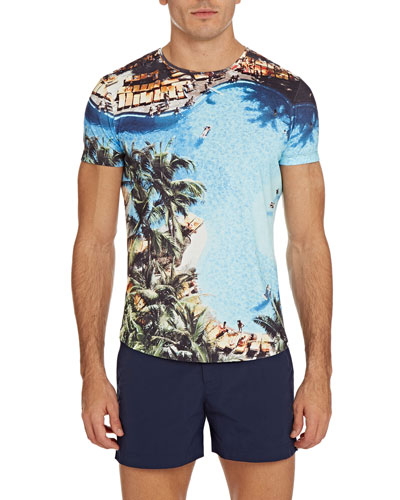 Men's Photographic Print Short-Sleeve T-Shirt