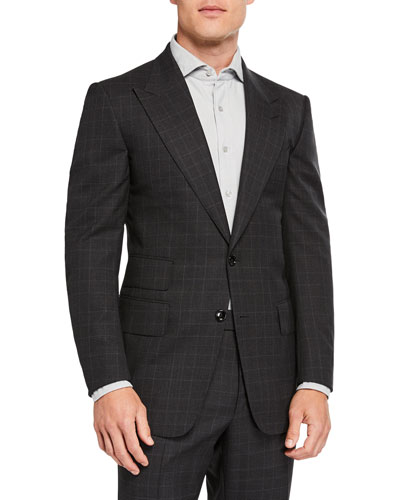 Men's Windsor Prince-of-Wales Check Two-Piece Suit