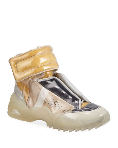 Men's New Future Laminated High-Top Sneakers