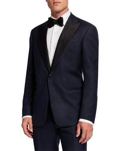 Men's Satin-Trim Formal Tuxedo