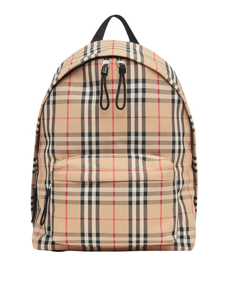 Men's Vintage Check Backpack
