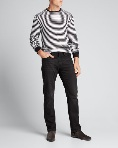 Men's Striped Thermal Long-Sleeve T-Shirt