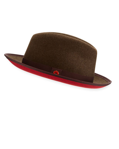Men's Prince Red-Brim Fedora Hat