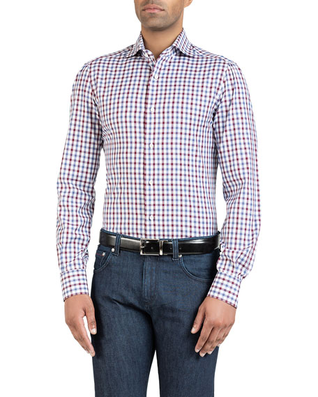 Men's Two-Tone Check Sport Shirt