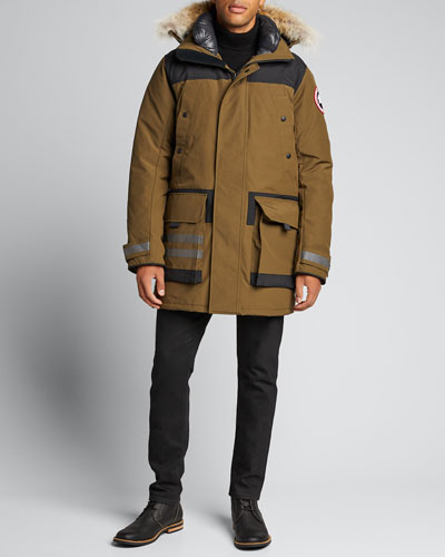 Men's Erickson Parka Coat w/ Fur Trim